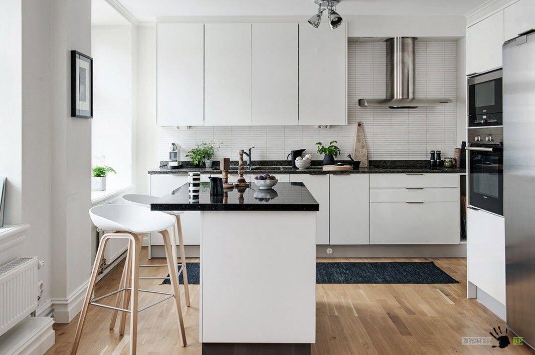 Черно-белые кухни дизайн 2017-2018 года новинки