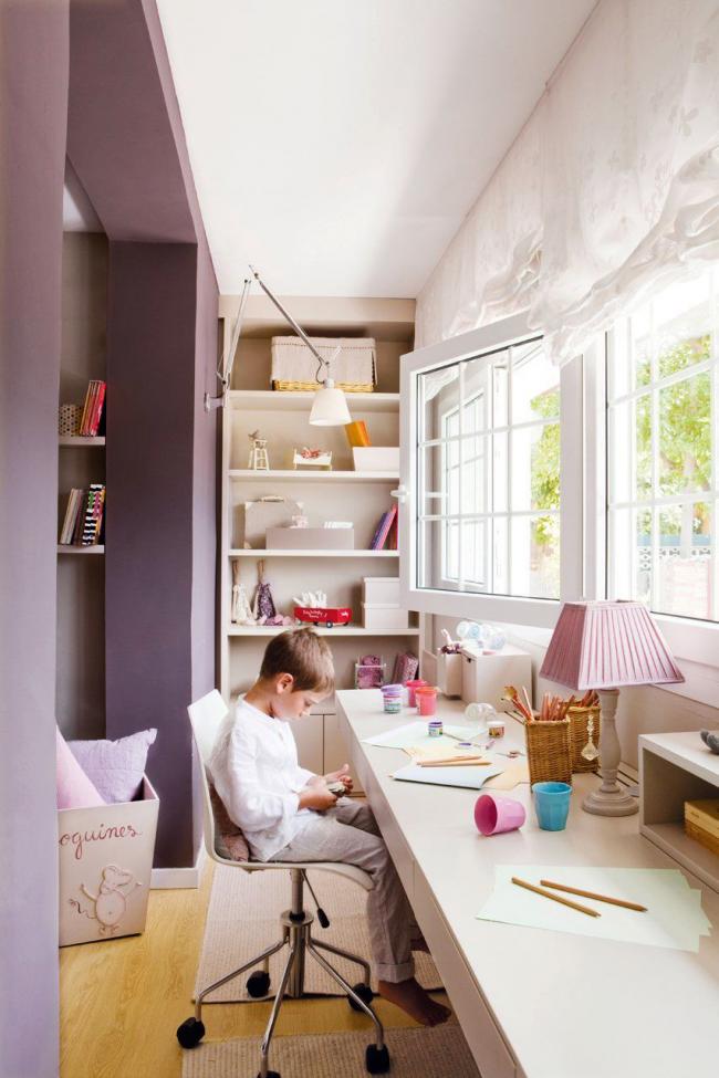 Организовать детский уголок можно, объединив лоджию вместе с комнатой