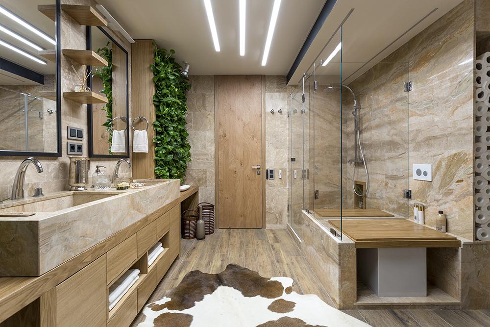 Искусственный мрамор является великолепным отделочным материалом для ванной