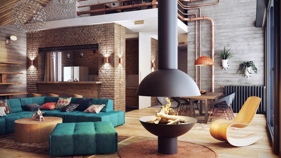 Наличие стильного камина в гостиной украсит интерьер любого помещения, главное чтобы он подходил под общую стилистику