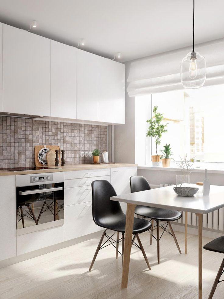 Современный дизайн кухни в двухкомнатной квартире новостройки