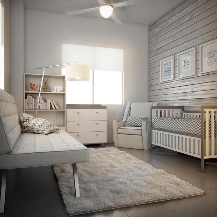 Деревянная стена в детской комнате всегда будет дарить тепло и уют