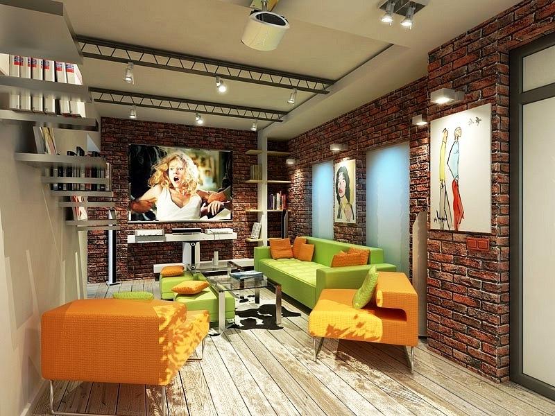 Картины и мебель в интерьере великолепно гармонируют друг с другом