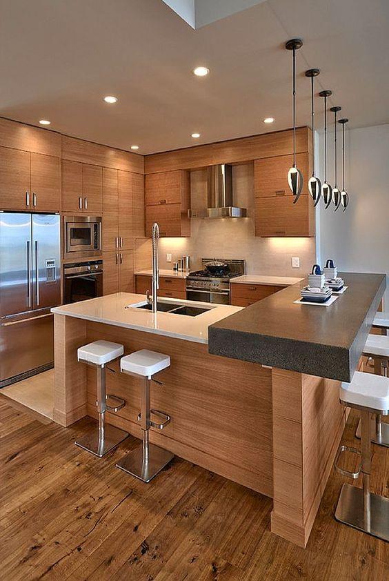Хорошее освещение кухни - залог уюта и комфорта