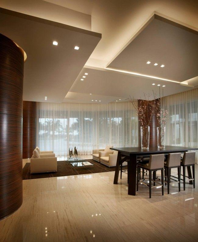 Ничто так не украсит подвесной потолок из гипсокартона, как оригинальная и изящная подсветка