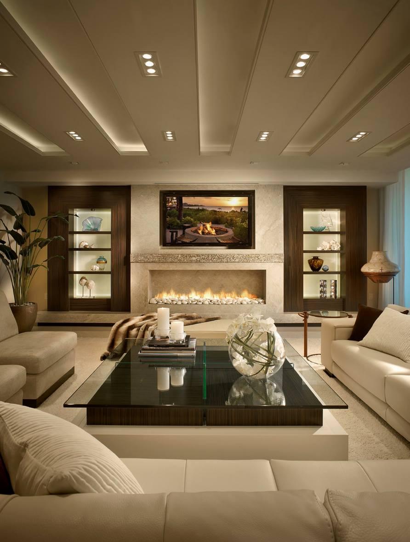 Экстравагантный интерьер гостиной с роскошным дизайном