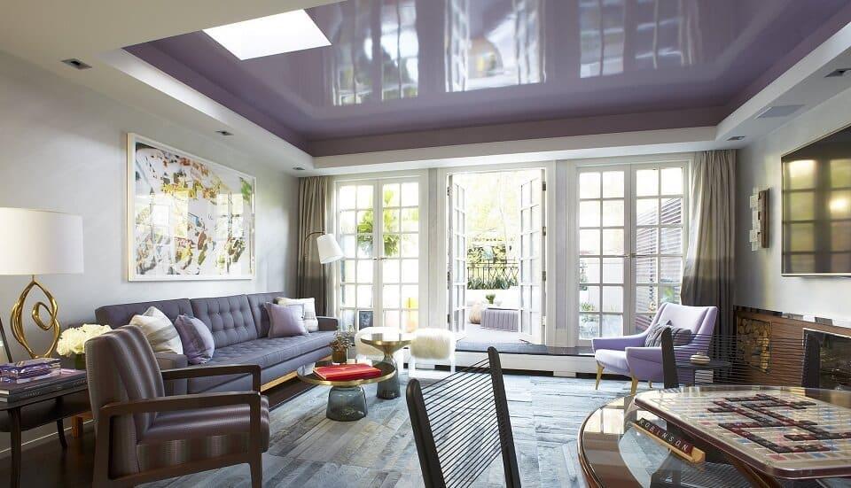 Сиреневый цвет в интерьере подойдет аристократичным и творческим натурам