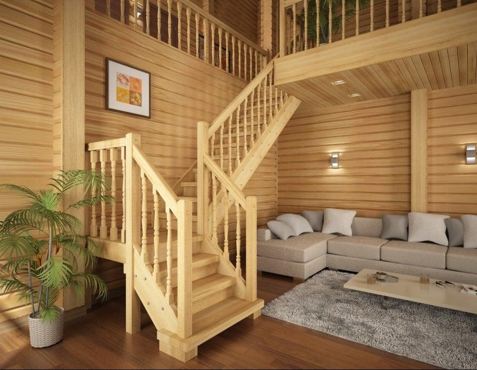 Цвет естественной древесины придает интерьеру природную теплоту