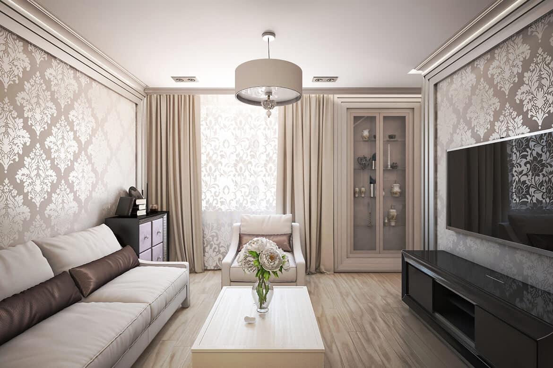 Бежевый - один из наиболее популярных цветов используемый в интерьере спальни или гостиной
