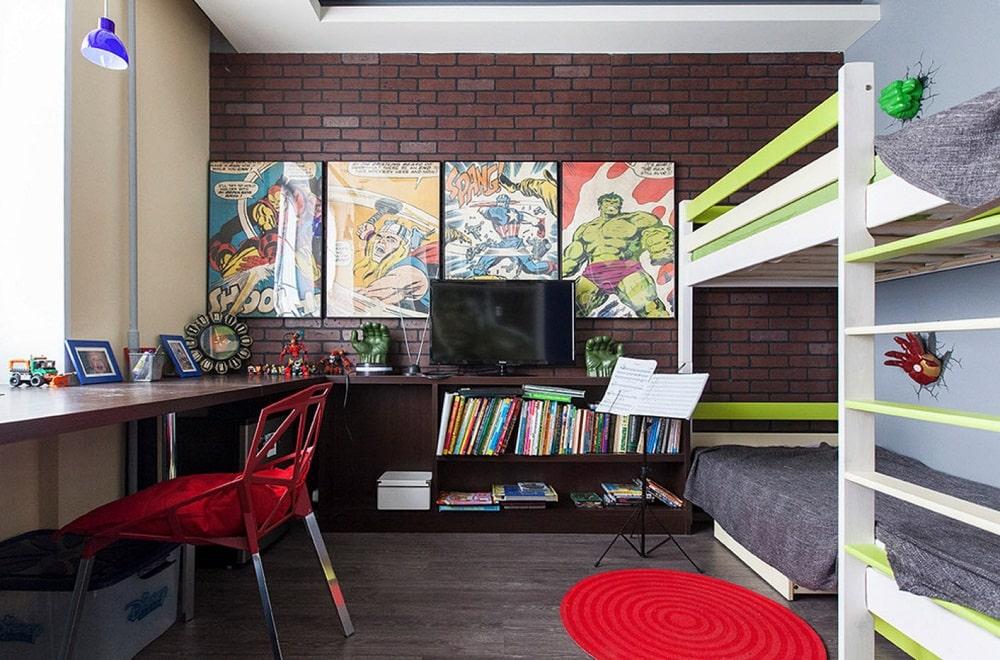 Для правильного развития цветовосприятия у детей следует использовать яркие и насыщенные оттенки в интерьере детской комнаты