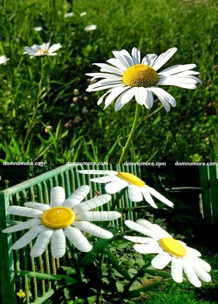 При кропотливой работе можно добиться удивительного сходства между искусственным и настоящим цветком ромашки