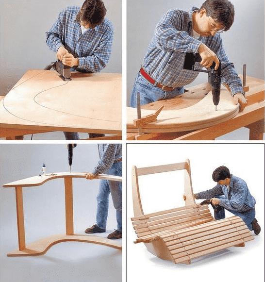 Изготавливая шезлонг своими руками очень важно строго придерживаться размеров указаных в чертежах