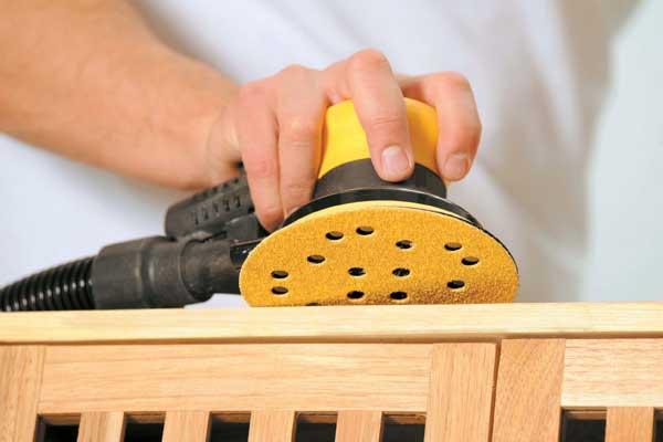 Шлифовка древесины машинкой