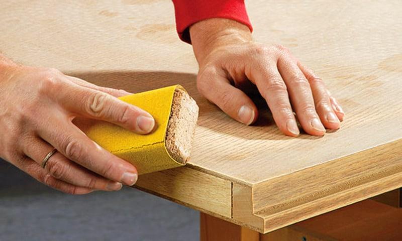 Шлифовка древесины вручную