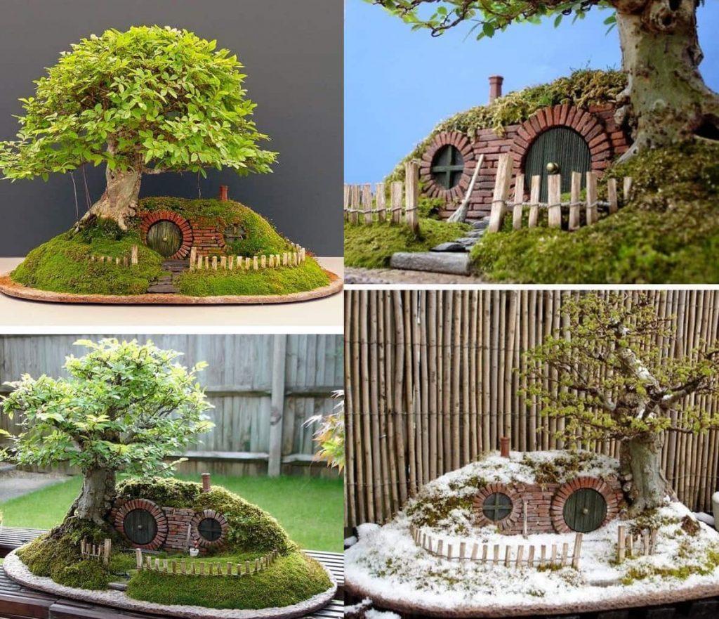 Миниатюрная «землянка» напоминающая домик Хоббита станет настоящим украшением для вашего сада
