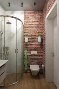 Декоративный кирпич в ванной комнате