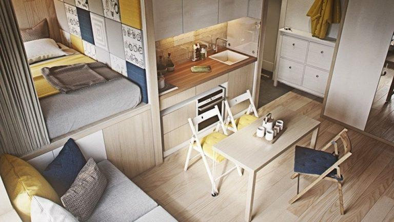 Интерьер маленьких квартир фото своими руками 645