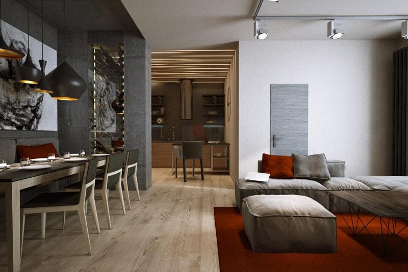 Стильный и утонченный дизайн квартиры студии