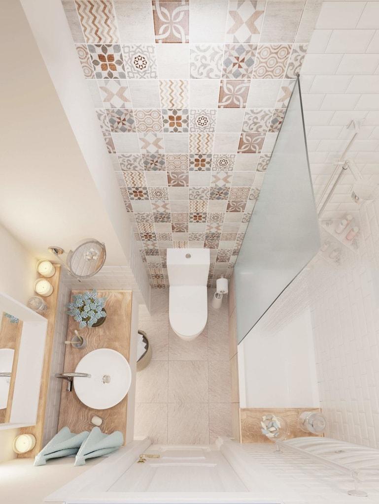 Если вы хотите сделать вашу ванную более просторной, используйте при оформлении светлые тона