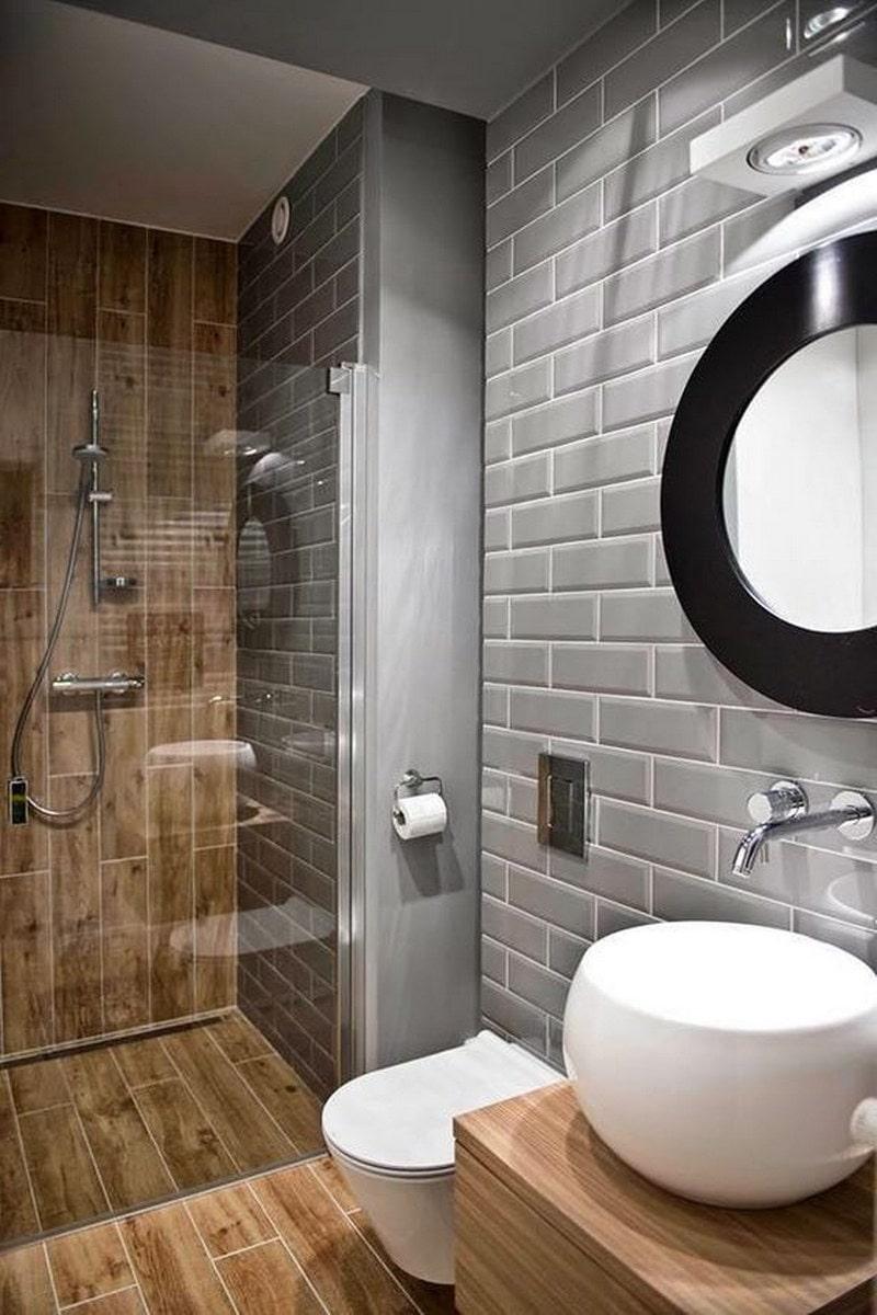Керамическая плитка, имитирующая дерево придаст вашей ванной особый стиль