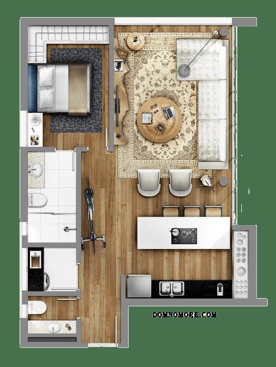 Хорошо продуманный дизайн-проект квартиры студии - залог качественного ремонта