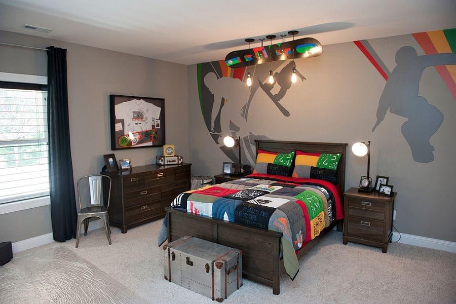 Оригинальное оформление комнаты для мальчика подростка