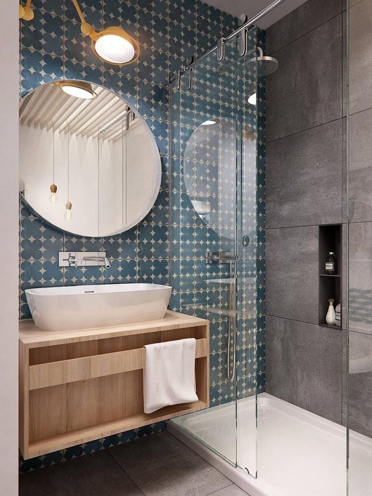 Идеально подобранная цветовая палитра для современной ванной