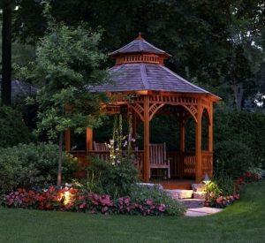деревянная садовая беседка