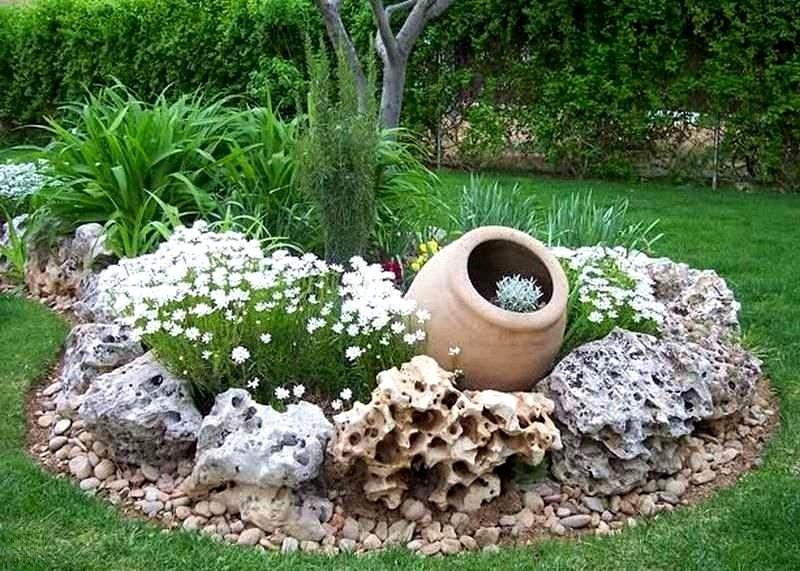 Необычная клумба в морском стиле станет настоящим украшением для вашего сада