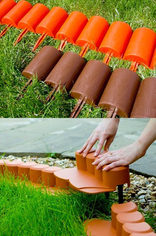 Легкие в установке пластиковые изделия позволят меньше чем за час возвести красивую ограду для вашей любимой клумбы