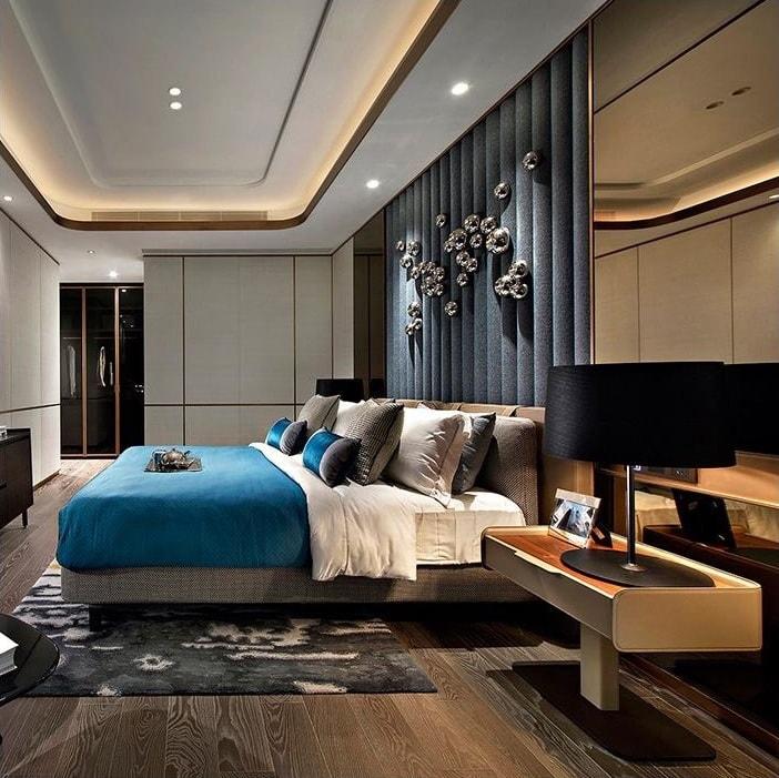 Брутальная спальня для настоящих ценителей прекрасного