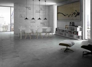 Большая плитка на полу в квартире