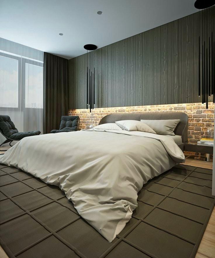 Дизайнерские возможности декоративного кирпича безграничны, найти ему применение можно даже в тихой и уютной спальне