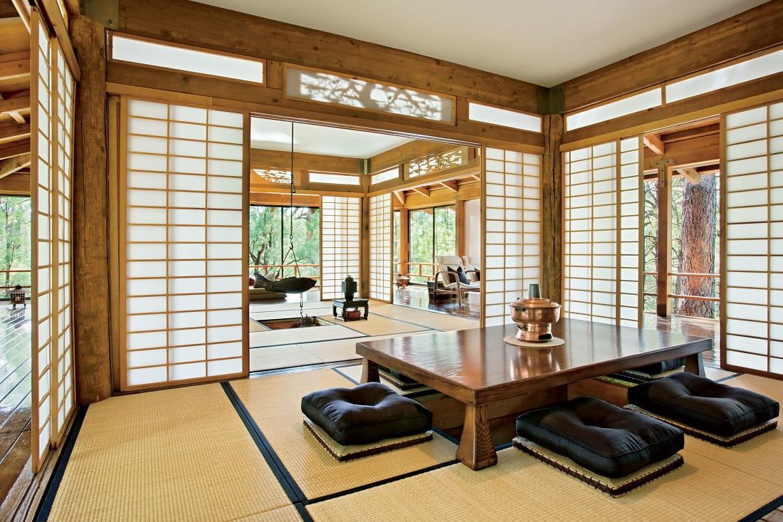 Классическая японская комната для чайного ритуала