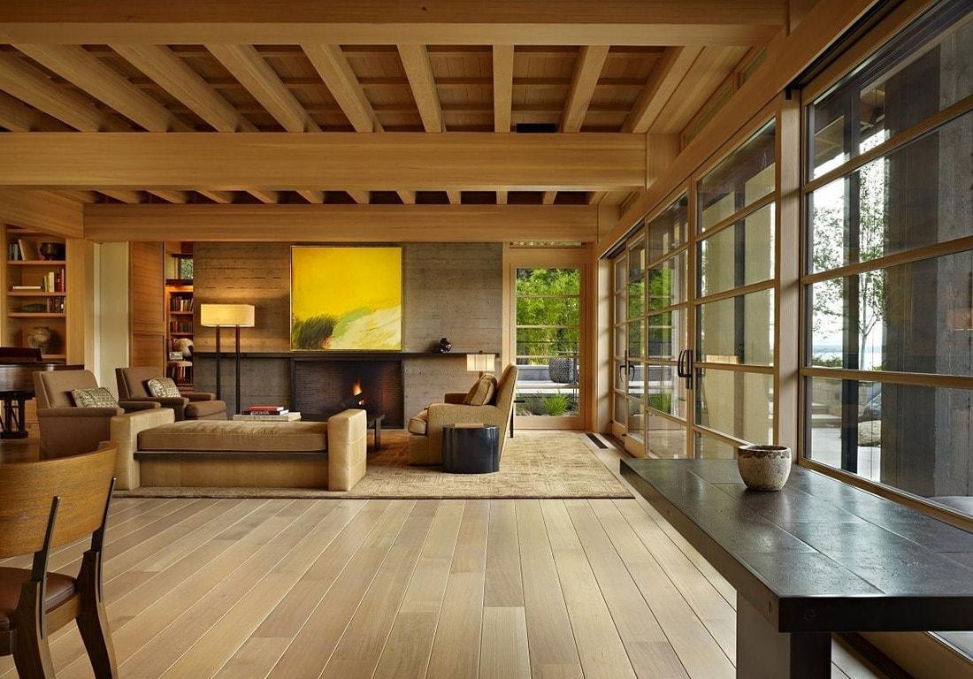 Интерьер дома в японском стиле должен быть выдержан в единой цветовой гамме. Это поможет создать спокойную и умиротворенную обстановку