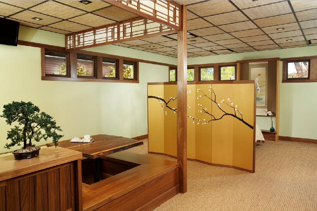 Классический интерьер комнаты в японском стиле