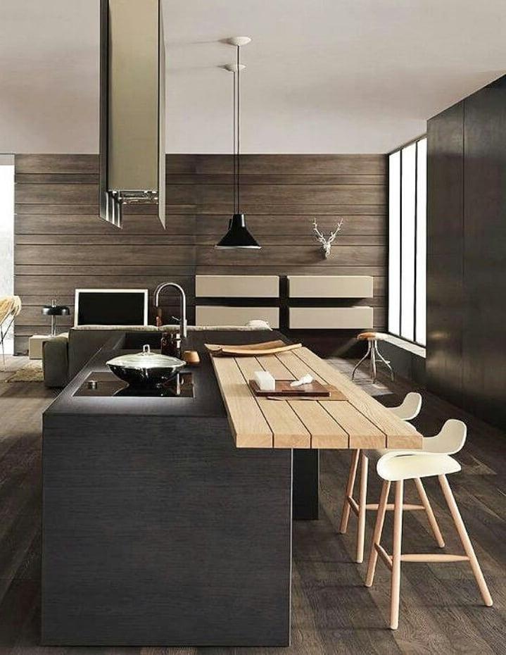 Кухня в японском стиле проникнута особой атмосферой. Здесь всегда уютно и комфортно
