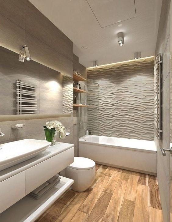 Безупречный и стильный дизайн ванной комнаты