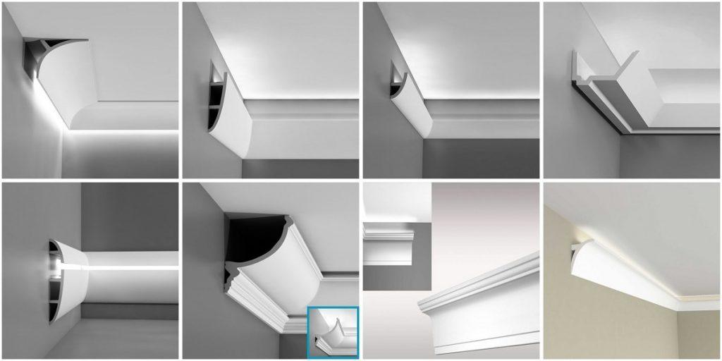 Потолочный плинтус для светодиодной ленты своими руками 50