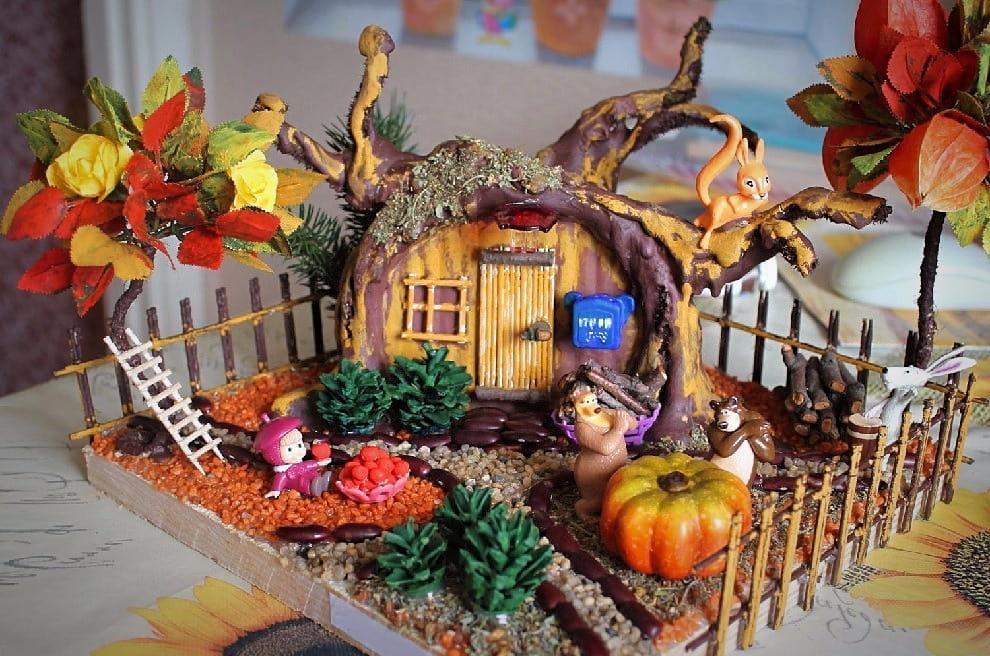 Яркая и красочная композиция Маша и Медведь станет отличным украшением для детской комнаты