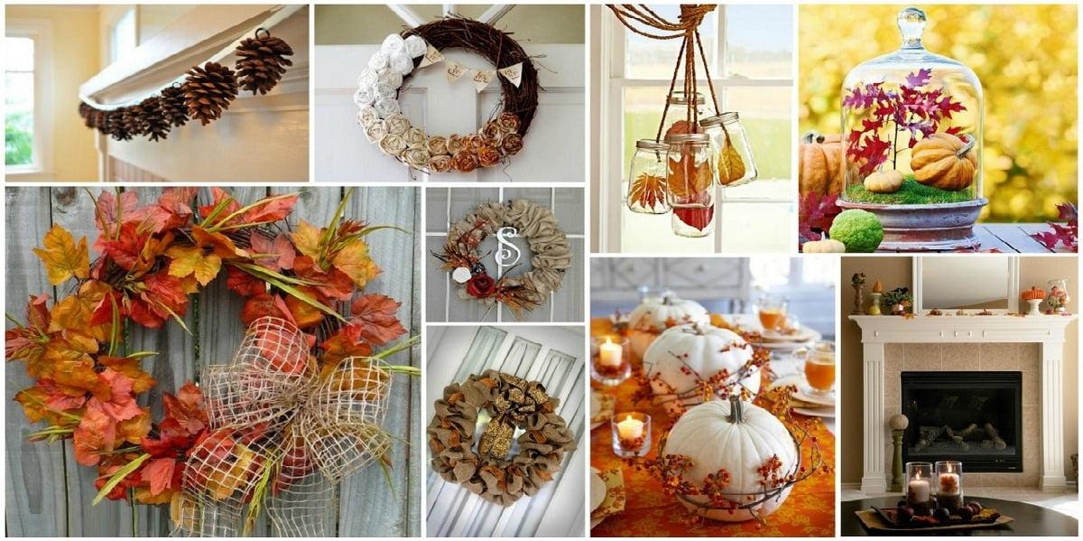 Декор из сосновых шишек на тему осень