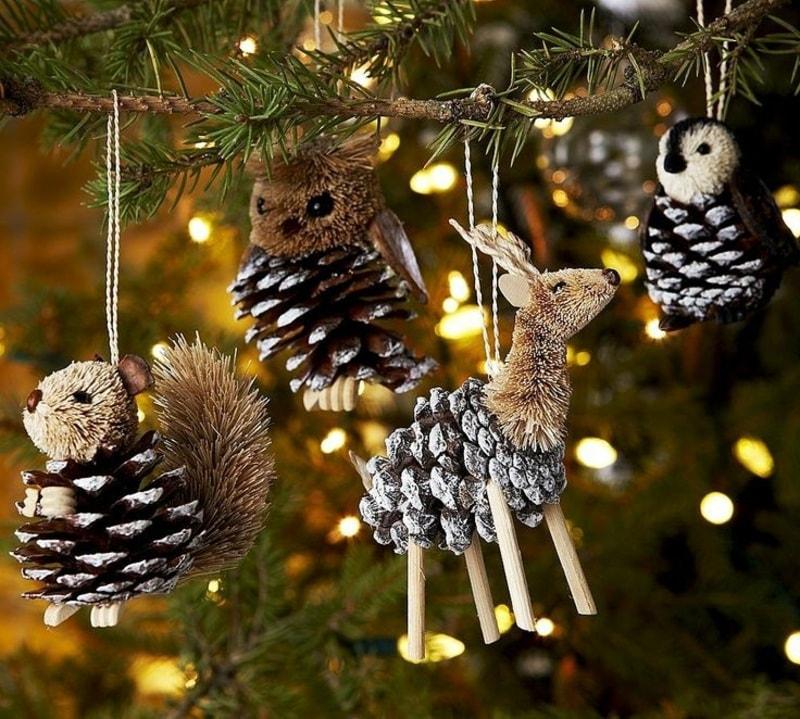 Красивые и интересные поделки в виде милых животных помогут украсить даже самую неприметную елку