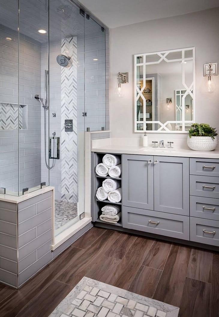 Умение правильно сочетать цвета, позволит создать стильный интерьер ванной 2021