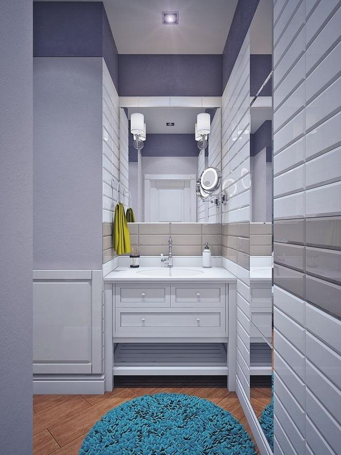 Стильный дизайн современной ванной комнаты 2021