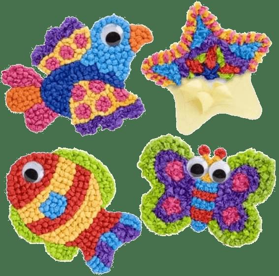 Забавные фигурки из шариков разноцветных салфеток