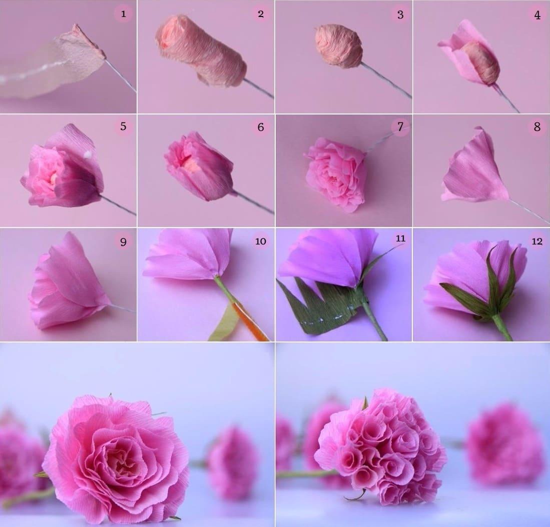 Цветы из бумаги своими руками. Подарок маме на 8 марта 58