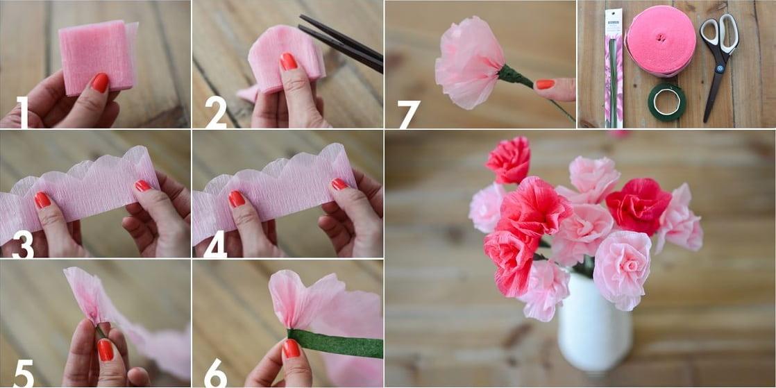 Квіти з салфеток своими руками 16