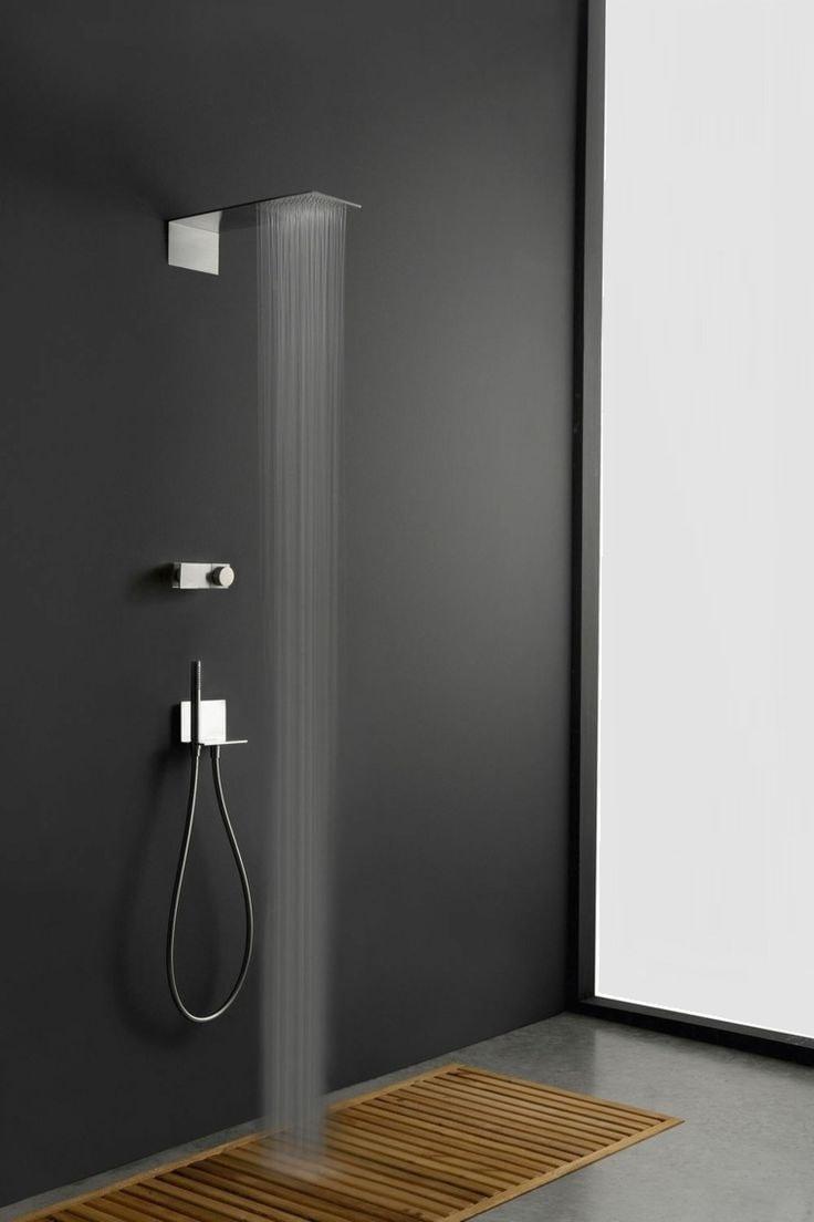 Необычный и стильный интерьер ванной в черно-белых тонах