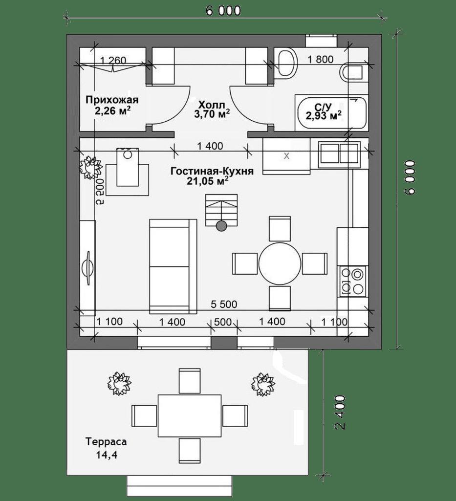 Проект дачного дома