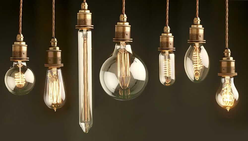 Дизайнерские лампы Эдисона - смотрятся красиво и необычно